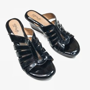 58231ff97a0 Euro Soft by Sofft Vesta Black Patent Sandals Sz 9